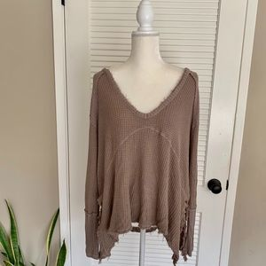 Free People ❤️ Thermal Long Sleeve Tunic ❤️ Size S